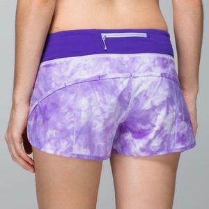 LULULEMON Run speed shorts purple size 4